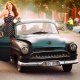 1955 opel kapitan, opel, vasteras, sweden, crs, retro cars, funny, women wallpaper