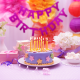 happy birthday, decorations, cake, candles, birthday, holidays wallpaper