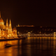 hungary, city, budapest, night, hungarian parliament building wallpaper