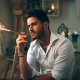 david olkarny, man, sparks, cigarette wallpaper
