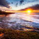 sunset cliffs, san diego, sunset, ocean, sky, rocks, usa, beach wallpaper