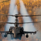 ka-52, alligator, hokum b, helicpoter, firing, forest, autumn wallpaper