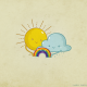 Sun, rainbows, clouds wallpaper