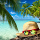 summer, beach, sand, sea, vacation, summer, sea, sand, glasses wallpaper