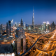 dubai, city, skyscrapers, uae, night, burf khalifa wallpaper