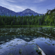 johns lake glacier park, usa, lake, mountains, forest, landscape, hdr, nature wallpaper
