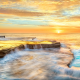 maroubra, new south wales, australia, coast, osean, sea, nature, sunset wallpaper