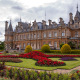 waddesdon manor, england, park, palace, grass, bushes, city wallpaper