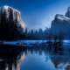 yosemite national park, usa, water, california, tree, fog, snow, mountains, nature wallpaper