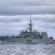 hmcs saskatoon, ship, battleship, destroyer, military, navy, sea, clouds, royal canadian navy wallpaper