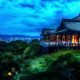 kiyomizu-dera, buddhist temple, kyoto, japan, temple, hdr, city, forest, night, hdr wallpaper