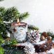 candle, pine needle, pine cone, snow, new year, christmas, holidays wallpaper