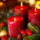 cones, candles, balloons, new year, christmas, holidays wallpaper