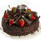 dessert, yummy, chocolate, cake, strawberry, food wallpaper