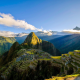 machu picchu, peru, mountains, landscape, clouds, sky, ruins, nature wallpaper