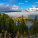 mountains, wyoming, river, autumn, clouds, trees, fog, forest, grand teton national park, usa, nature wallpaper