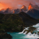 torres del paine national park, mountains, cliff, chile, patagonia wallpaper