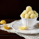coconut, dessert, cup, candy, coconut balls, food wallpaper