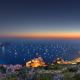 monaco, monte carlo, yachts, sea, night wallpaper