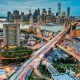 manhattan, new york, street, city, usa, skyscrapers, highway wallpaper