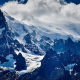 cordillera paine, torres del paine, chile, mountains, peak, snow, nature, clouds wallpaper