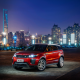 2017 range rover evoque, land rover, cars, city, evening, shanghai, china wallpaper