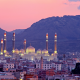 al saleh mosque, yemen, sanaa, mosque, sunset, city wallpaper