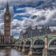big ben, london, city, thames, bridge, england, clouds, houses of parliament, palace of westminster wallpaper