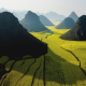 Pyramidal Hills, Luoping, China, green, field, mountain, nature, landscape, Rapeseed Fields wallpaper
