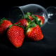 glass, berry, strawberry, food wallpaper