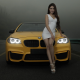 asian, girl, women, cars, bme, legs, white dress, brunette, bmw m5 wallpaper