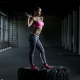 crossfit, women, sport, fitness model, pink bra, sport bra wallpaper