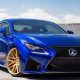 lexus rc-f , golden wheels, vossen wheels type vps 308, lexus, cars, blue car wallpaper