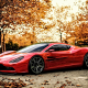 cars, supercar, sunset, aston martin, aston martin dbc, concept cars, red cars, autumn wallpaper