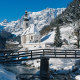 winter, mountains, bavaria, snow, river, nature, germany wallpaper
