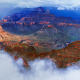 grand canyon, clouds, rock, nature wallpaper