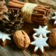 cone, nut, cookies, christmas, cinnamon sticks, holidays, new year wallpaper