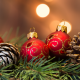 holidays, new year, christmas, branch, spruce, needles, toys, balls, cones, bokeh, christmas tree wallpaper