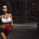 girl, model, women, boxer, boxing gloves, tanned, brunette wallpaper