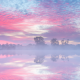 sky, river, sunrise, reflection, morning, haze wallpaper