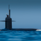 nature, landscape, sea, water, horizon, submarine, waves, blue, men, military, antenna, sky wallpaper