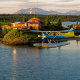 bristol bay, alaska, sportfishing lodge, airplane, flight, nature, island, fishing lodge, seaplane wallpaper