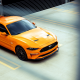2018 ford mustang gt, orange car, cars, ford mustang, ford mustang gt, ford wallpaper