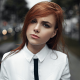 women, redhead, women outdoors, shirt, white clothing, face, depth of field, Georgiy Chernyadyev wallpaper