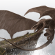 fantasy art, dragon, warrior, cliff, rain wallpaper