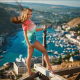 women, girl, long hair, wind, height, landscape, photographer, legs, sexy legs, smiling, crimea wallpaper
