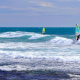 windsurfing, sea, waves wallpaper