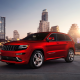 red car, cars, city, ckyscrapers, jeep grand cherokee, jeep, grand cherokee wallpaper