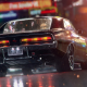 dodge, muscle cars, night, rain, cars, art wallpaper