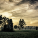 nature, landscape, mist, sunset, trees, abandoned, house, Italy, clouds, grass wallpaper